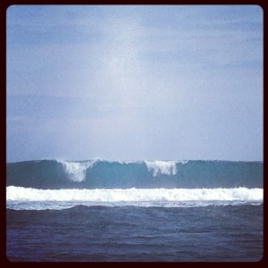 Beautiful wave in Pangandaran