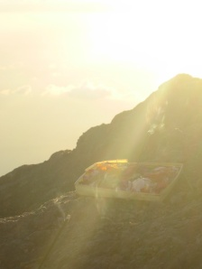 Made's offering on top of Gunung Agung - He said thanks to his gods and his life on every step of the way!